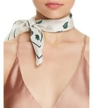 Rebecca Minkoff Vertical Paisley Bandana Silk Scarf (White, One Size) - $28.40