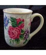 OTAGIRI VICTORIAN ROSE KIMIKO IKEDA JAPAN CUP MUG S FLOWERS FLORA PINK BLUE - $10.88