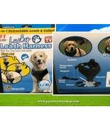 Tekno Lucky Leash Harness Sz L/XL (36-80 lbs) Magnetic Black - $8.99