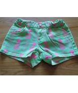 Size 10 Regular Total Girl Green Pink Pineapple Print Shorty Shorts Summ... - $14.00