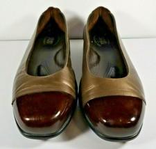 SAS Tripad Coco Comfort Foot Bed Ballet Flats Shoes Size 9 W Brown Cap Toe - $44.99