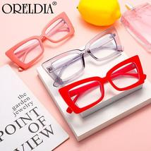 Fashion Ladies Glasses Small Frame Cat Eye Flat Glasses Candy Color Frame Optica image 5