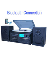 Boytone BT-28SPB, Bluetooth Classic Style Record Player Turntable with A... - $184.73
