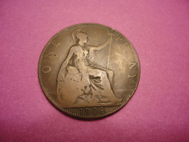 1908 English Large Penny (HALF-DOLLAR-SIZE) Combined Shipping - $1.98