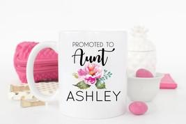 New Mug - Promoted to Aunt Mug Aunt Mug Sister Mug Aunt Gift Baby - $10.99+