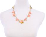 Ces for women 2016 new design orange flowers short necklace kpop fashion jewlery 2 thumb155 crop