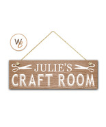 "CRAFT ROOM Sign, Custom Name On 5.5"" x 17"" Wood Sign, Personalized Gift - $24.21"