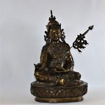 Guru Rinpoche Padmashambhava pure copper Statue from Nepal - $800.00