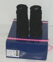 I Love Yo Kids AVA 92T Girls Fringe Boot Black Zip Up Size Five image 1