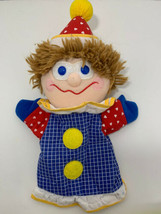 Gymboree Gymbo 1987 vintage clown hand puppet blue yellow red - $19.79
