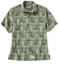 Tommy Bahama Men's Mayan Maze Shirt, Green Finch, Size S, MSRP $135 - $59.39