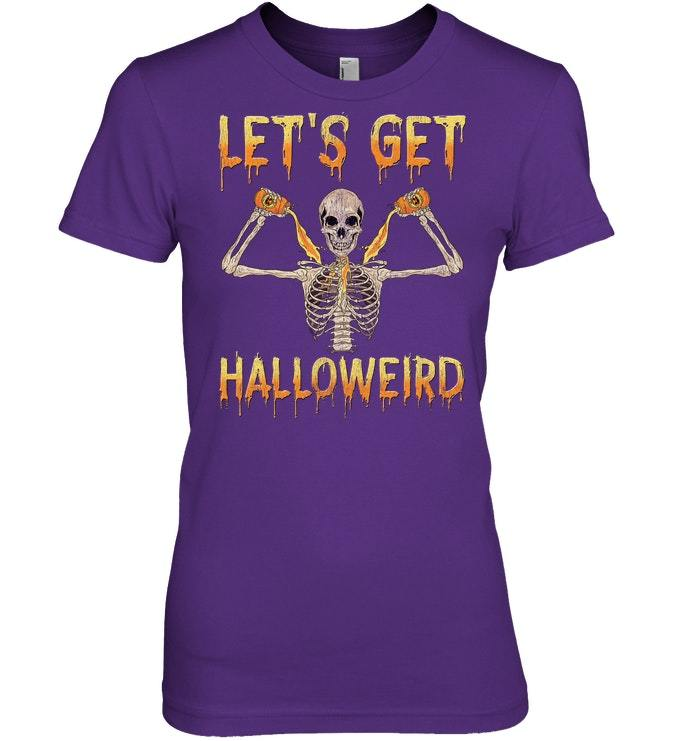 Funny Creepy Halloween Skeleton Tshirt