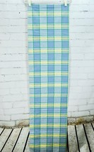 WAVERLY VALLEY LAKE PLAID BLOUSON TAILORED VALANCE YELLOW & BLUE 14 X 78 - $23.76