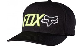 New Authentic Fox Racing Trinches Flexfit Fitted Black Hat Cap size S/M - $23.50