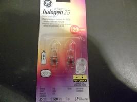 GE Lighting 97664 Single-Ended 2-Pin G8 Base T4 Quartz Halogen Bulb, 25W, 2-Pack - $5.50