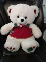 Fordlet International Teddy Bear Girl White Holiday Plush Stuffed Animal... - $15.99