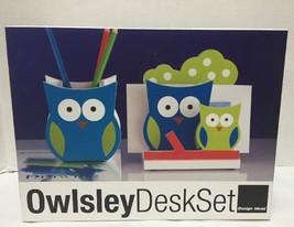 Owl Desk Set Pencil Cup Owlsley Letter Holder Design Ideas New - €26,14 EUR