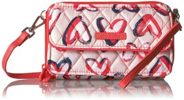 Vera Bradley  NWT $58 RFID All in One Crossbody Wallet Wristlet hearts  pink - $39.59