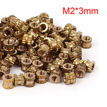 Mayitr 100pcs M2 Brass Cylinder Knurled Threaded Insert 3mm Round Embedd... - $9.95