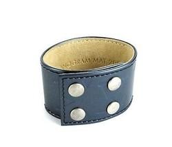 Auth Louis Vuitton Monogram Mat 2002 Blue Vernis Leather Bangle Bracelet Good - $187.11