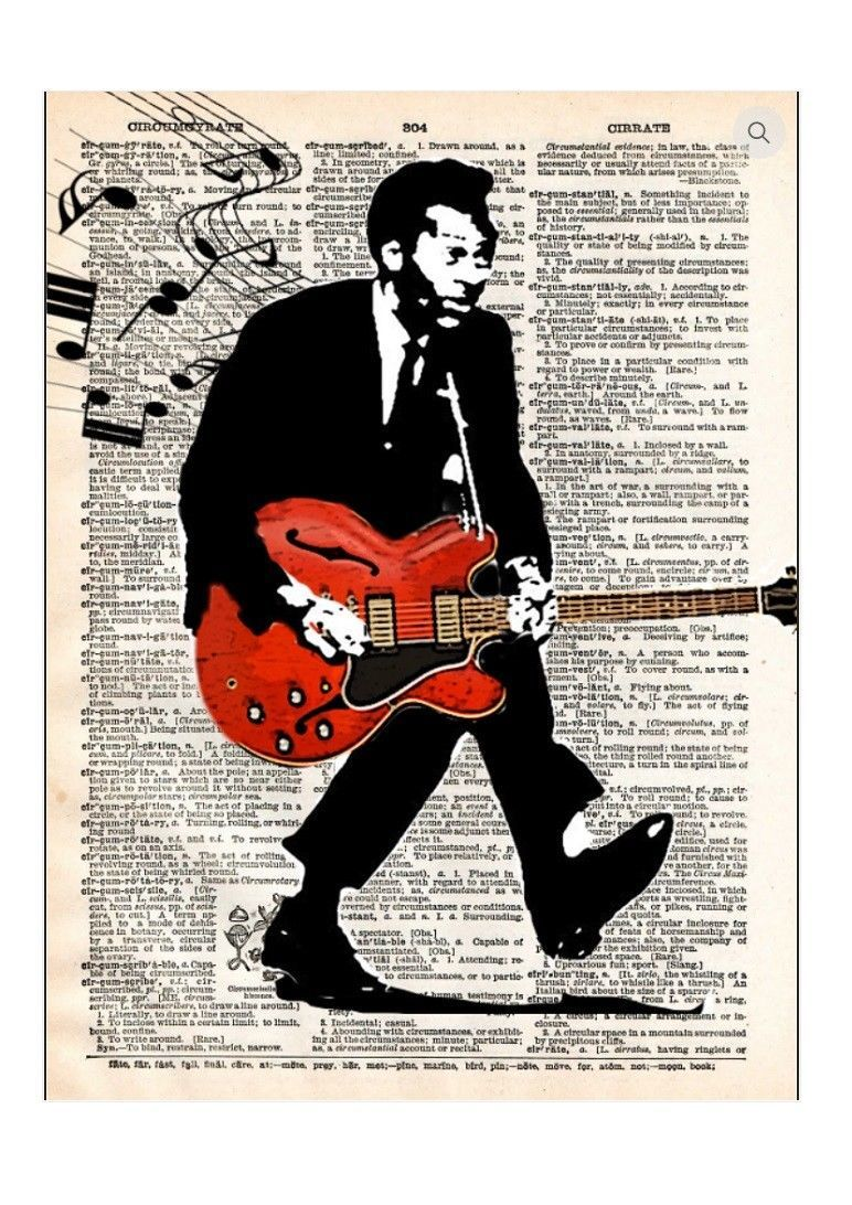 Art N Wordz Chuck Barry Dictionary Page Pop Art Print Poster