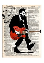 Art N Wordz Chuck Barry Dictionary Page Pop Art Print Poster - $21.00