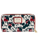 Loungefly Disney Mickey & Minnie Mouse Wallet Zip Around Clutch Faux Lea... - $155.25