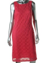 American Living By Ralph Lauren Women Lace Hot Pink Party Cocktail Dress... - $30.87