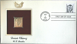 DENNIS CHAVEZ U.S. Senator First Day of Issue Apr. 3, 1991 - $8.50