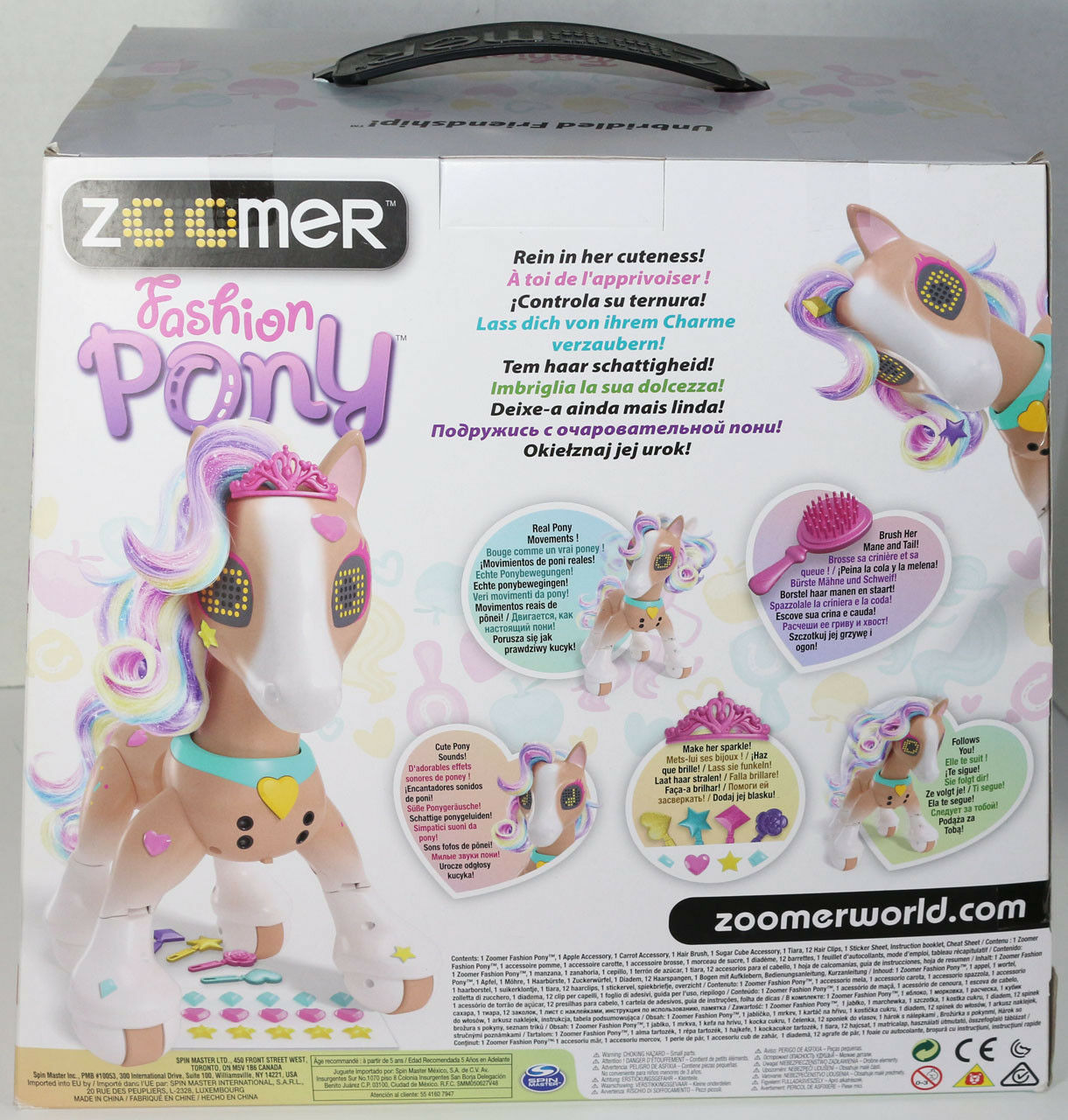 Spinmaster ZOOMER FASHION PONY INTERACTIVE LIGHTS SOUNDS MOVEMENTS Toy Walmart