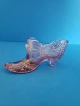 Art Glass Slipper Pink Iridescent - $15.00