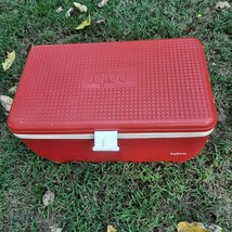 Vintage Igloo Cooler 48 Quart Red Ice Chest Plastic Picnic Camping Travel Trip - $46.75