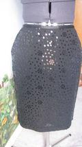 Ann Taylor Loft Sequins Black Skirt Sz 8P PRE-OWNED - $36.38