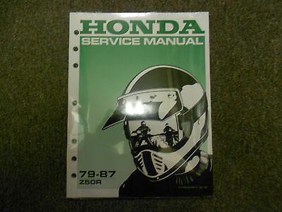 Primary image for 1984 1985 1986 1987 HONDA Z50R Z 50 R Service Shop Workshop Repair Manual New