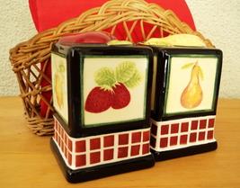 Debbie Mumm Country Farmhouse Classic Fruit Ceramic Salt & Pepper Shakers - €12,71 EUR
