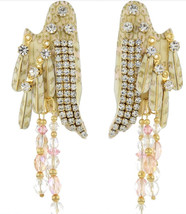 Lunch at the Ritz Angel Feather Wings Crystal Beads & Rhinestones Post E... - $94.05