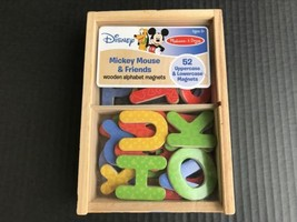Melissa & Doug Mickey Mouse & Friends Wooden Alphabet Magnets Refrigerator - $7.99