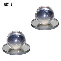 Clear Acrylic Small Ball Stick-On Mirror Knob - Pack of 2 - $24.95