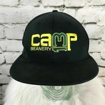 Nike Camp 13 Mens Sz S/M Hat Black Yellow Flat Bill Fitted Baseball Cap - £11.31 GBP