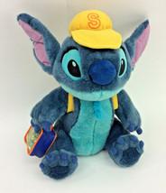 "Disney Lilo & Stitch Plush Backpack Lunch Tote Yellow Hat Stuffed 12"" Sc... - $48.37"