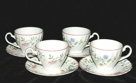 Johnson Brothers Summer Chintz * 4 SETS CUPS & SAUCERS * Small Flowers ,... - $11.87