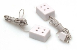 Dollhouse Miniatures 1:24 Scale 2 Pc Twin Sockets #HWH2202 - $5.99