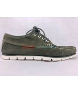 Timberland Men's 4 eye Tidelands Moccasins Casual Green Suede Boat Shoes A1GTU - $66.99
