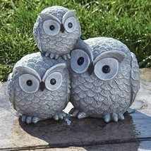 Garden items Owls Garden Statue, one Size, Light Gray - $47.46