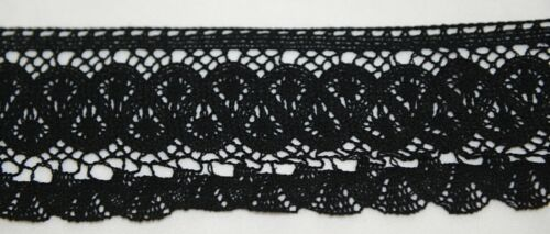 Simplicity 1868819031 Black Large Fan Cluny Lace Trim 12 Yards Long