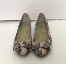 Jessica Simpson Faux Snakeskin Pink Ballet Flats Slip On Shoes Size 7.5 - $32.66