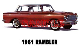 1961 Rambler 'B' Cars Sales Service Dealer Logo T-shirt  Decal Signs Decals - $14.95+