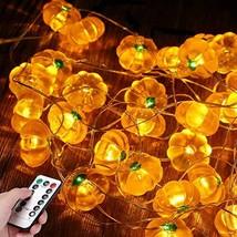 3D Pumpkin LED String Lights,10ft 40LED Battery Powered Halloween Fall Decor Lig