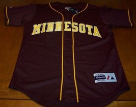 UNIVERSITY OF MINNESOTA STITCHED BASEBALL JERSEY SMALL NEW w/ TAG - $54.45