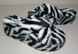 Jessica Simpson Size 11 M TALULLA Black White Slide Sandals New Women's Shoes - $52.87